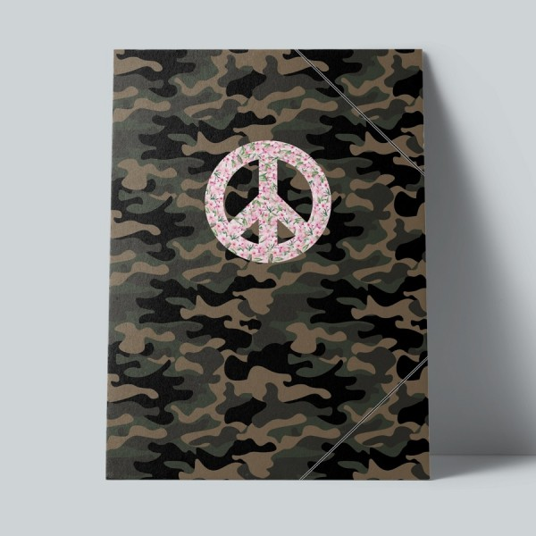 Sammelmappe Peace Camouflage