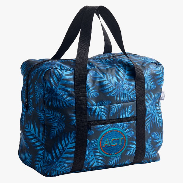 Easy Travel Bag Philodendron mit Initialen-Patch