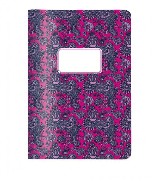 CEDON A5 Heft Paisley pink