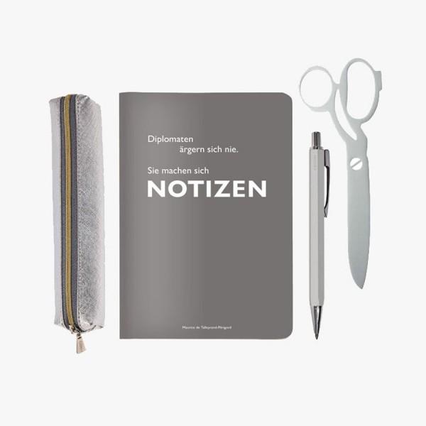 Mini-Schreibset Notizen silber