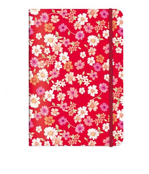 Notizbuch Blüten rot DIN A5