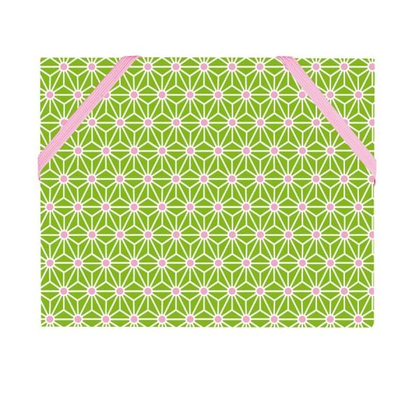 Mäppchen Asanoha grün