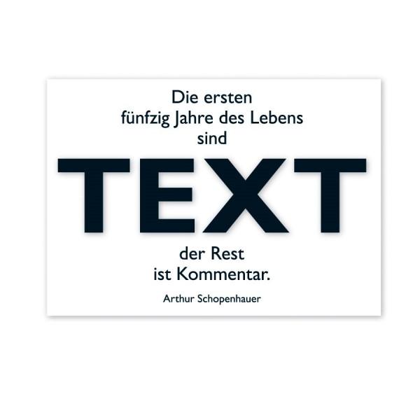 CEDON Postkarte Schopenhauer, Text