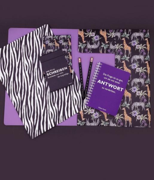 Schreibset Zebra lila