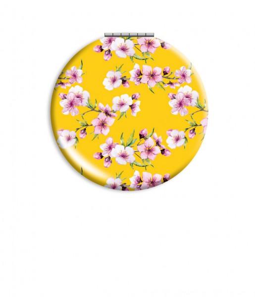 Klappspiegel Blüten gelb