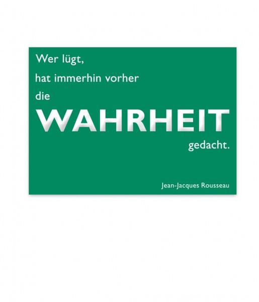 Postkarte Rousseau Wahrheit