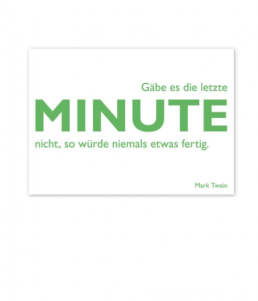 Postkarte Twain Minute | CEDON