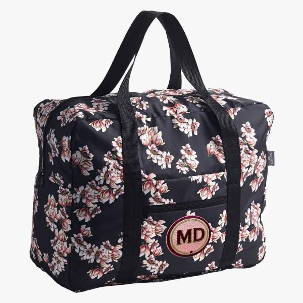 Easy Travel Bag Magnolie mit Initialen-Patch