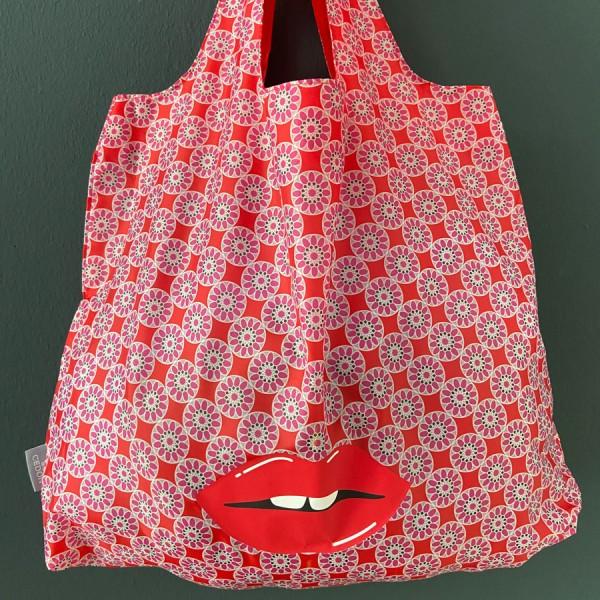 Easy Bag Kachel rosa-rot mit Kuss