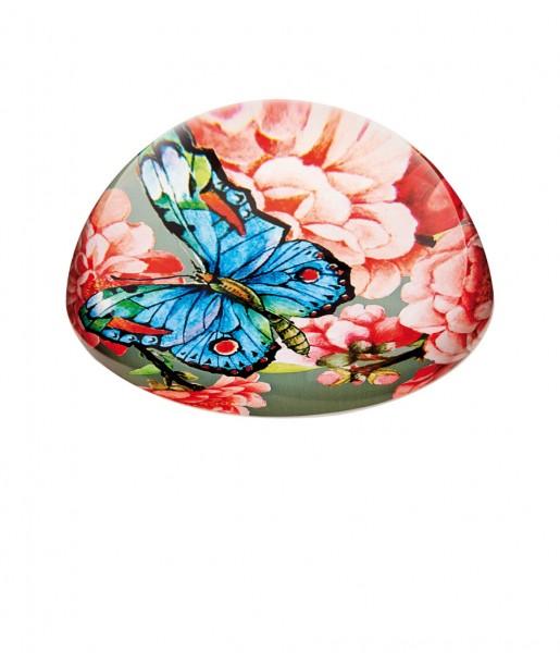Briefbeschwerer Blumen Mandelblüte Schmetterling