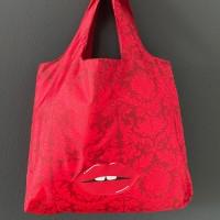 Easy Bag Hofdamast rot mit Kuss