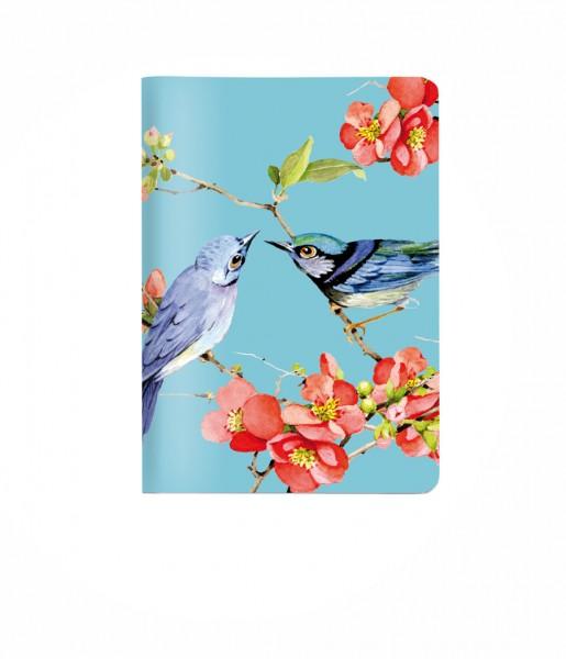 Heft Vögel blau DIN A6 | CEDON