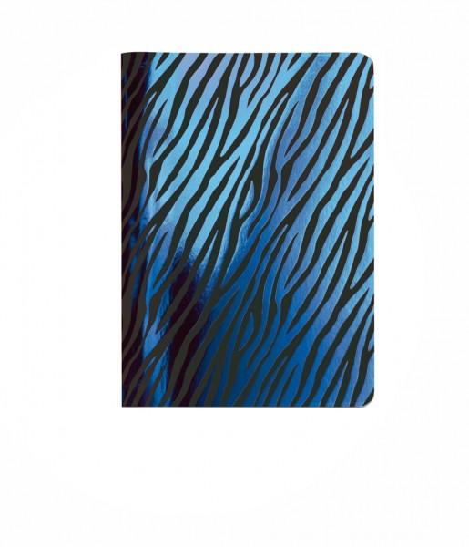 Heft Metallic Zebra blue DIN A6