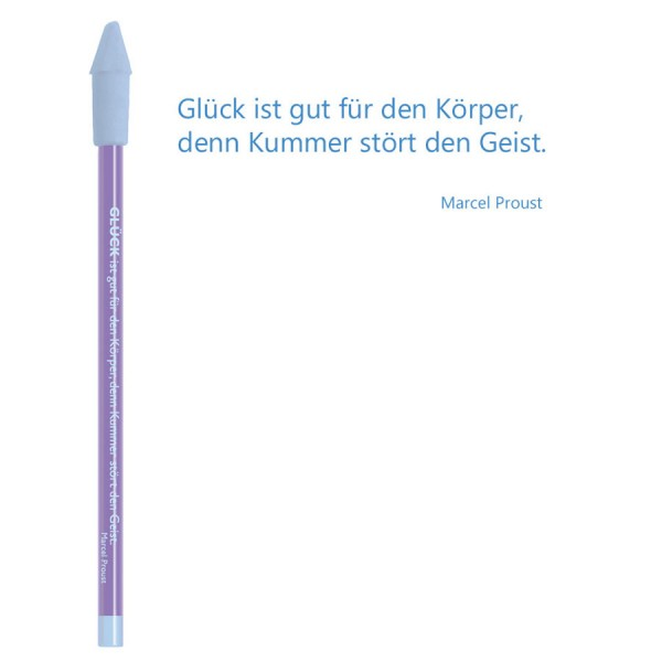 CEDON Bleistift blau - Marcel Proust Glück