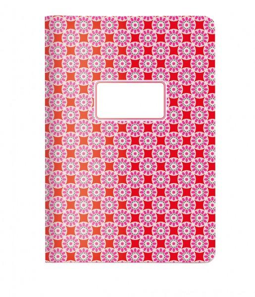 Heft A5 Kachel rosa-rot | CEDON