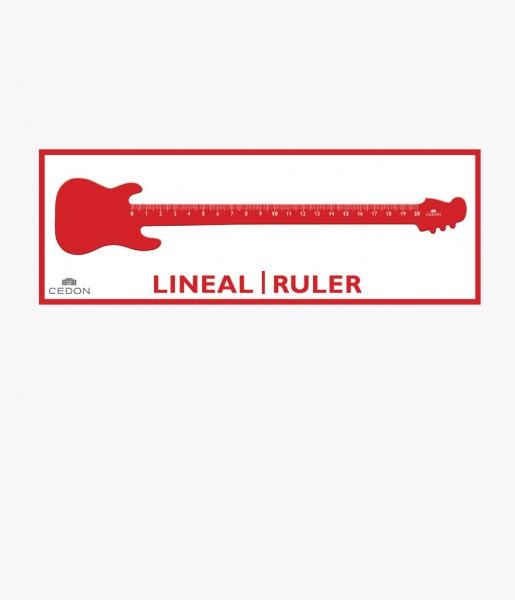Lineal Gitarre rot | CEDON