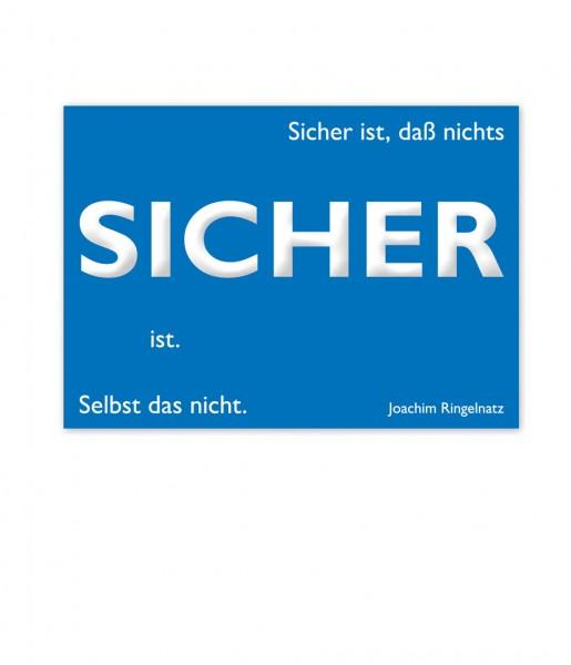 Postkarte Ringelnatz Sicher | CEDON