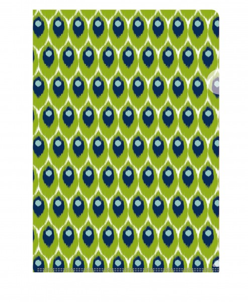 Dokumentenhülle Ikat grün-blau | CEDON