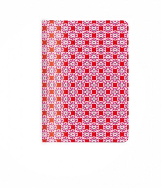 Heft Kachel rosa-rot DIN A6 | CEDON