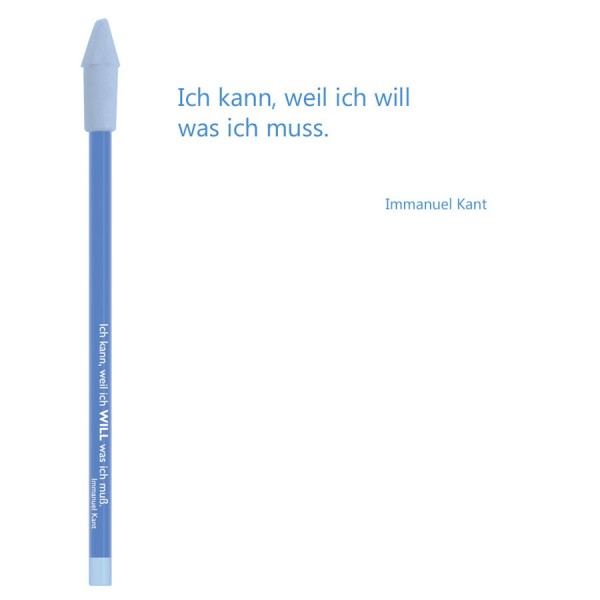CEDON Bleistift blau - Immanuel Kant Ich kann