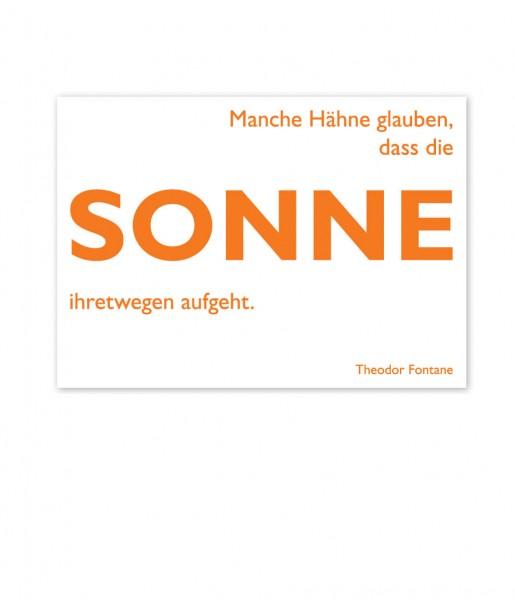 CEDON Postkarte Fontane, Sonne