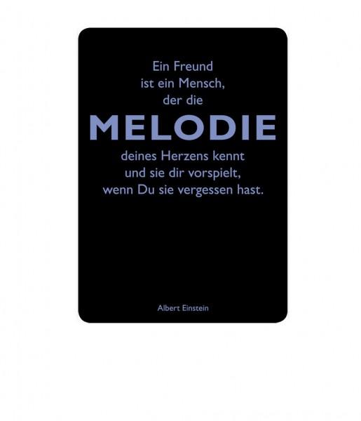 Postkarte Einstein Melodie