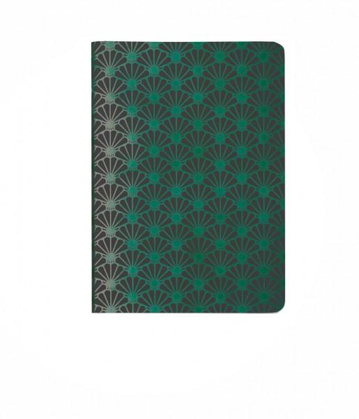 Heft Metallic Shell green DIN A6 | CEDON
