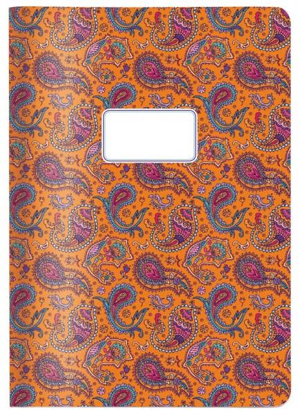 Heft Paisley orange DIN A4 | CEDON