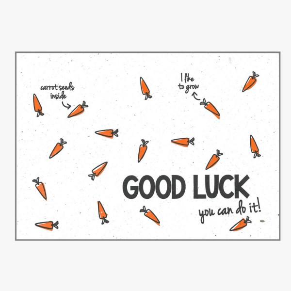 Grußkarte Good Luck