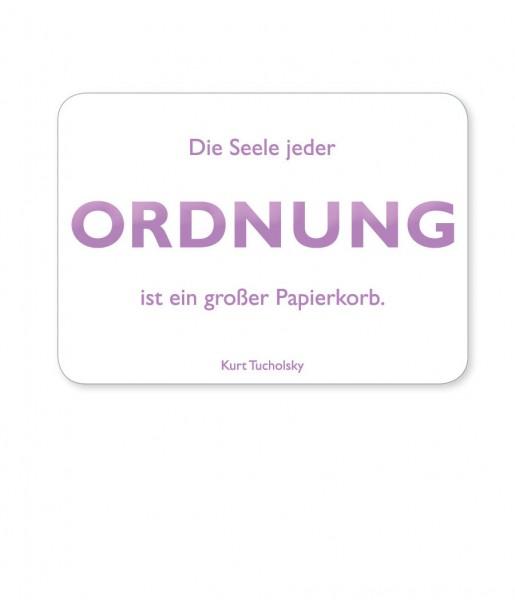 Postkarte Tucholsky Ordnung | CEDON