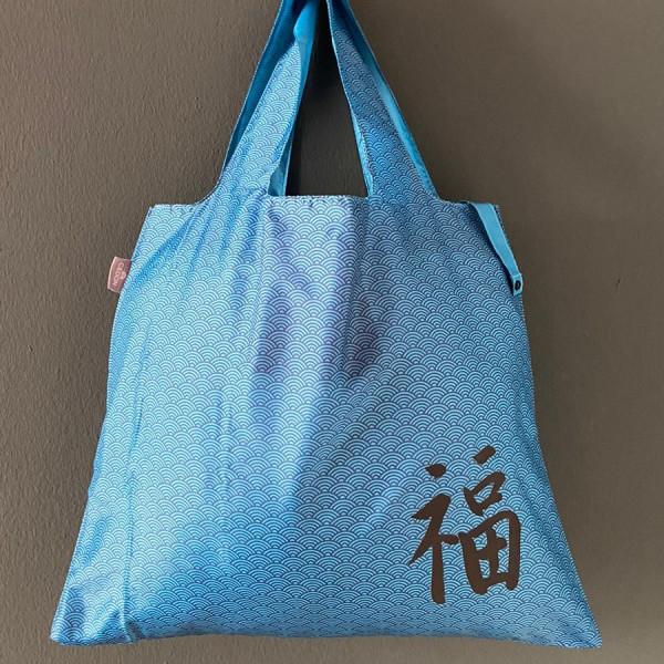 Easy Bag Welle blau mit Glück
