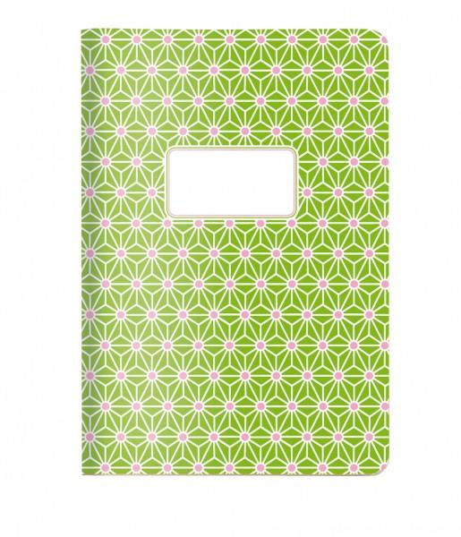 Heft A5 Asanoha grün | CEDON
