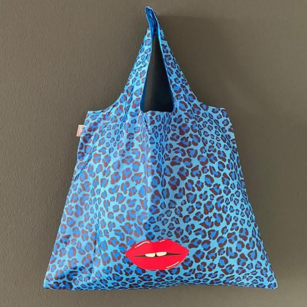 Easy Bag XL Leo blue mit Kuss