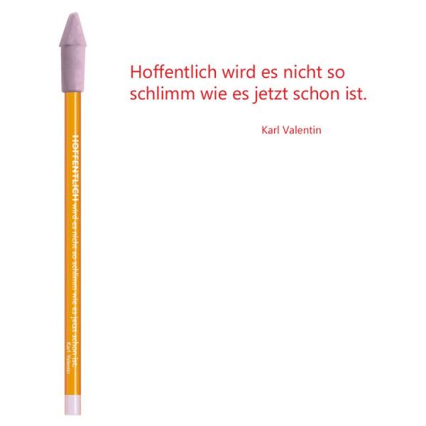 CEDON Bleistift rot - Karl Valentin Hoffentlich