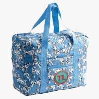 Easy Travel Bag b/w Dogs mit Initialen-Patch