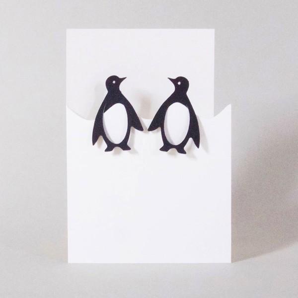 Weihnachtskarte klein Pinguine