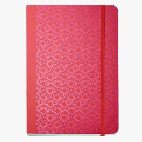 CEDON Notizbuch DIN A5 Metallic Daisy Red