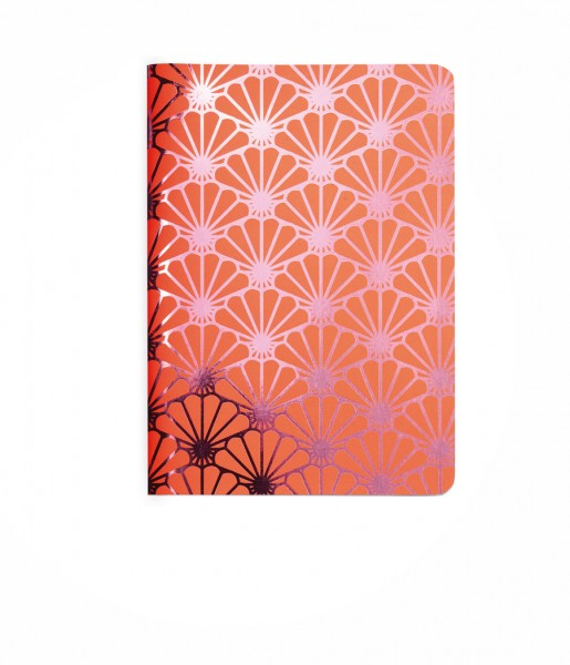 Heft Metallic Shell pink DIN A6 | CEDON