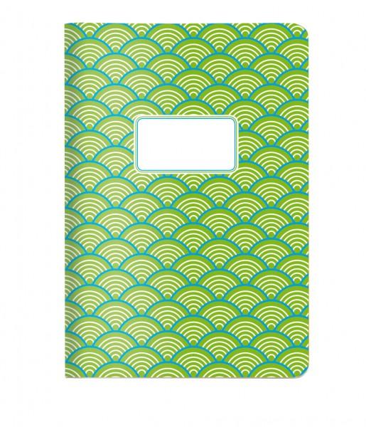 Heft Welle grün DIN A5 | CEDON