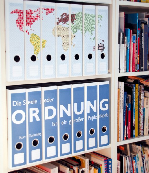 Ordnerrücken Weltkarte pattern | CEDON
