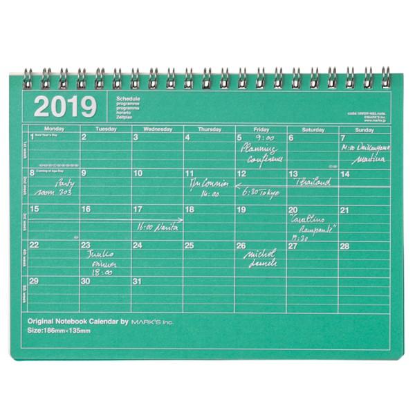 Mark's Kalender 2019 Notebook mint-grün