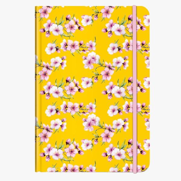 CEDON Notizbuch DIN A5 Blüten gelb