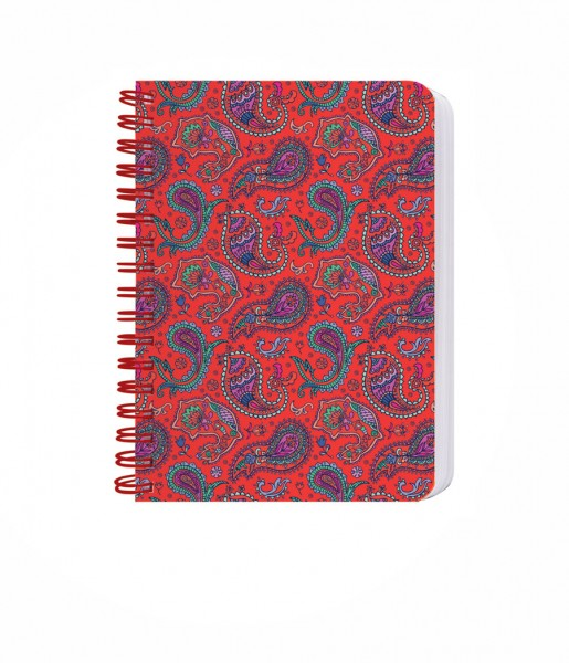 Ringbuch Paisley rot DIN A6 | CEDON