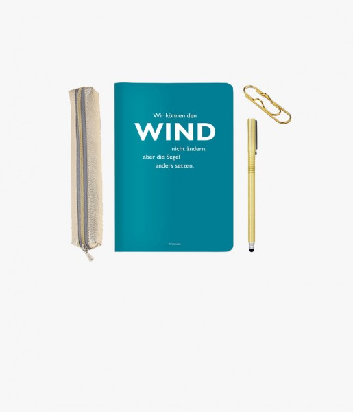 Mini-Schreibset Wind gold | CEDON