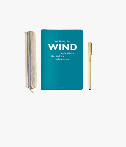 Mini-Schreibset Wind gold