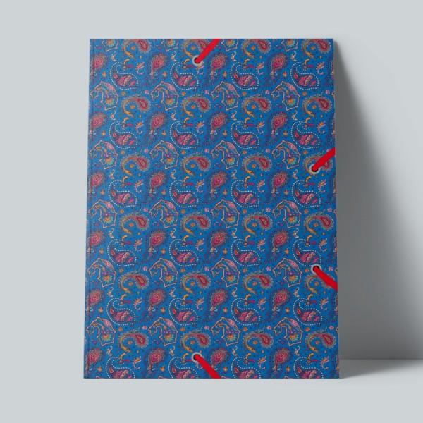 Sammelmappe de Luxe Paisley blau