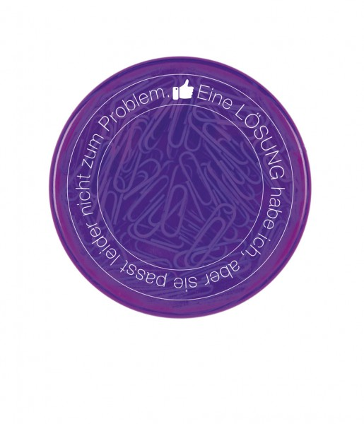 Büroklammerdose Lösung lila