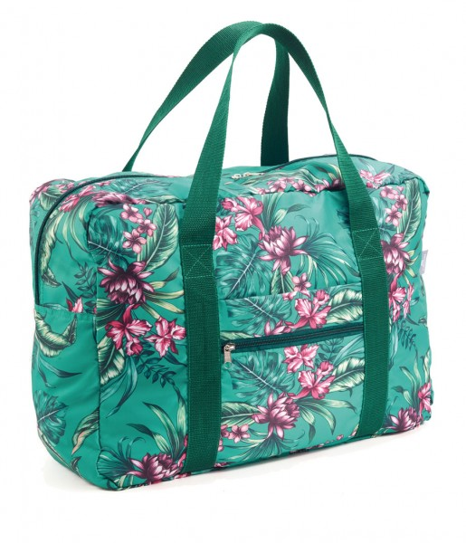 Easy Travel Bag Tropical green
