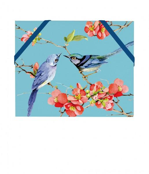 Mäppchen Vögel blau | CEDON