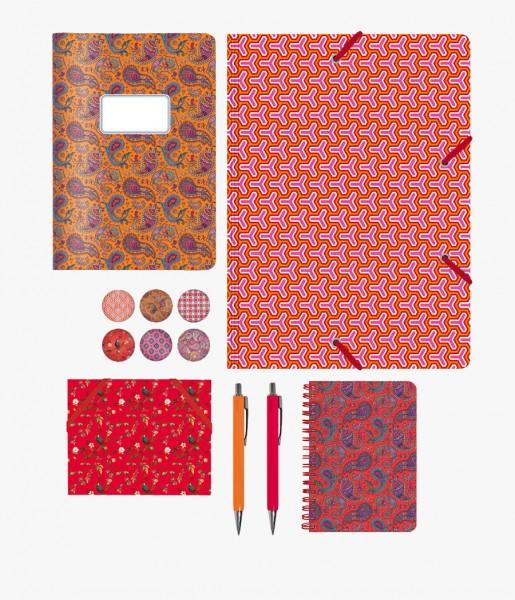 Schreibset Pattern rot-orange | CEDON